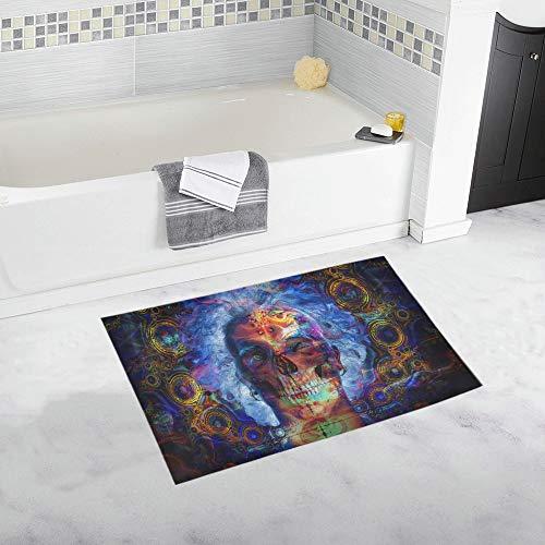 (Psychedelic Art Artwork Fantasy Dream Color Neon D Custom Non-Slip Bath Mat Rug Bath Doormat Floor Rug Bathroom 20 X 32 Inch)