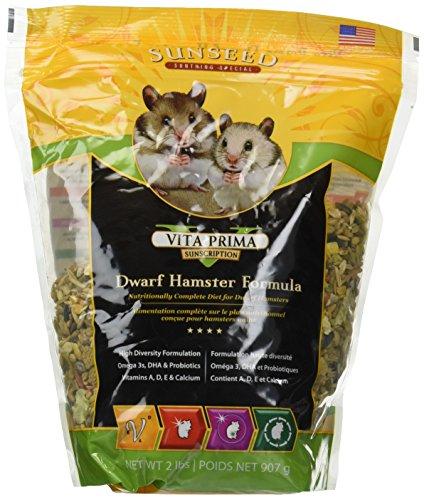 Vitakraft Vita Prima Sunscription Dwarf Hamster Formula 6 Pound Total (3 Packages with 2 Pound each) (2 Lb Food Bag Hamster)