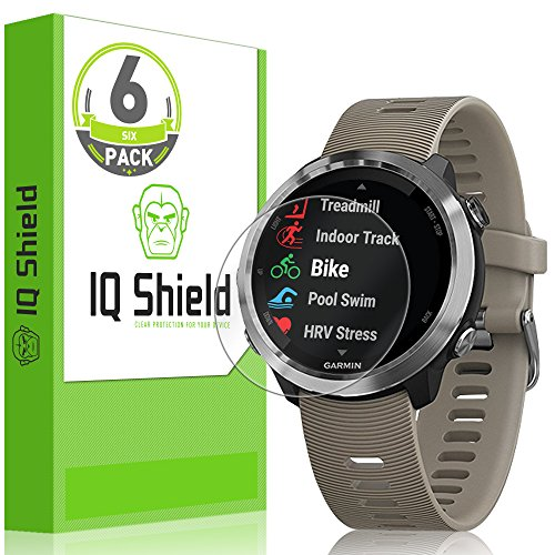 ([6-Pack] IQ Shield LiQuidSkin Clear Screen Protector for Garmin Forerunner 645 Bubble Free Film [Full Coverage])