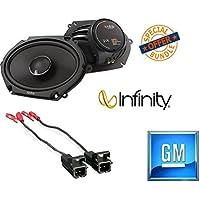 Infinity KAPPA 682.11cf Peak Power Handling 300w 6x8/5x7 Two Way Car Audio w/ Metra 72-5600 Ford Speaker Harness 1998-UP