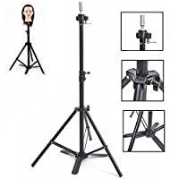 HAIREALM Wig Stand Cosmetology Adjustable Tripod For Mannequin Manikin Doll Canvas Head