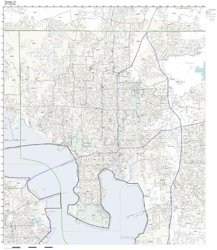 Tampa Florida Zip Code Map Amazon.com: Working Maps Zip Code Wall Map of Tampa, FL Zip Code