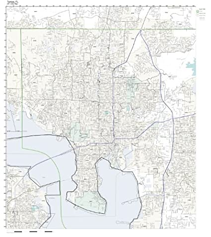 Tampa Area Zip Code Map.Amazon Com Zip Code Wall Map Of Tampa Fl Zip Code Map Laminated