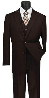 VINCI Men/'s White Gabardine 2 Button Classic Fit Suit w// Flexible Waistband NEW