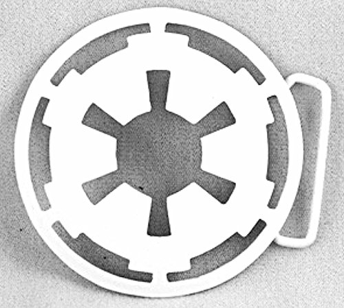 Logo Belt Buckle Buckles (Star Wars Imperial White Logo Belt Buckle Rock Rebel Lucas Films Costume Metal)