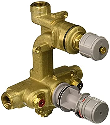 American Standard R520R520 Ceratherm Rough Valve Body with 1/2-Inch NPT Inlets/Outlets, 7.2 GPM at 40 PSI