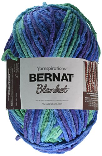 Spinrite 16111010776 Bernat Blanket Big Ball Yarn-Ocean Shades by Spinrite