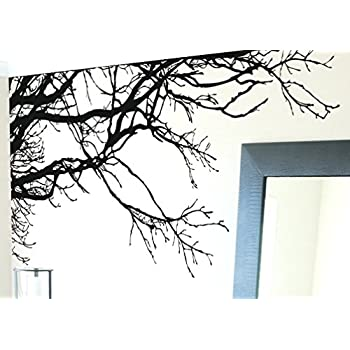 Large Tree Wall Decal Sticker   Semi Gloss Black Tree Branches, 44in Tall X Part 93
