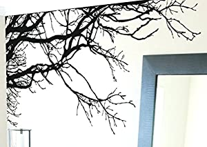 Large Tree Wall Decal Sticker   Semi Gloss Black Tree Branches, 44in Tall X  100in Wide, Left To Right. Removable, No Paint Needed, Tree Branch Wall  Stencil ... Part 62
