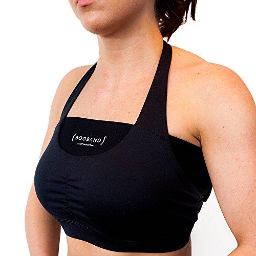 reggiseno donna da 2 al seno fascia regolabile sportivo alternativa Confezione Nero Booband reggiseno R0x4TqCRw