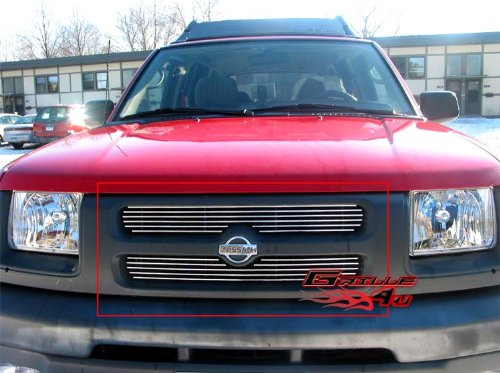 APS Compatible with 2000-2001 Nissan Xterra Main Upper Billet Grille Insert N65436A ()