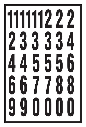 Hy-Ko MM-7N Vinyl Self-Stick Numbers, 2