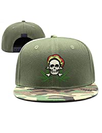 YHNBHI Marijuana Cannabis Science Unisex Plain Adjustable Peaked Cap Street Dancing Snapback Hats