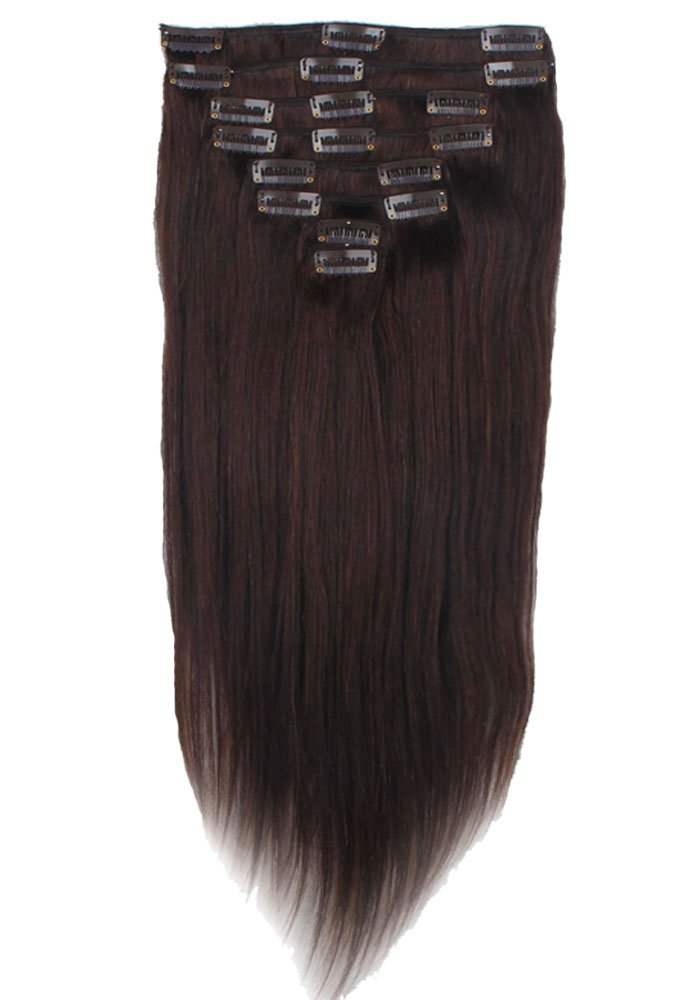 Lelinta 18'' 8Pcs 100% Remy Real Human Single Thick Weft Hair Straight Extension by Lelinta (Image #2)
