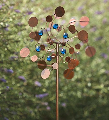 Midi Garden Metal Wind Spinner, Copper by Plow & Hearth