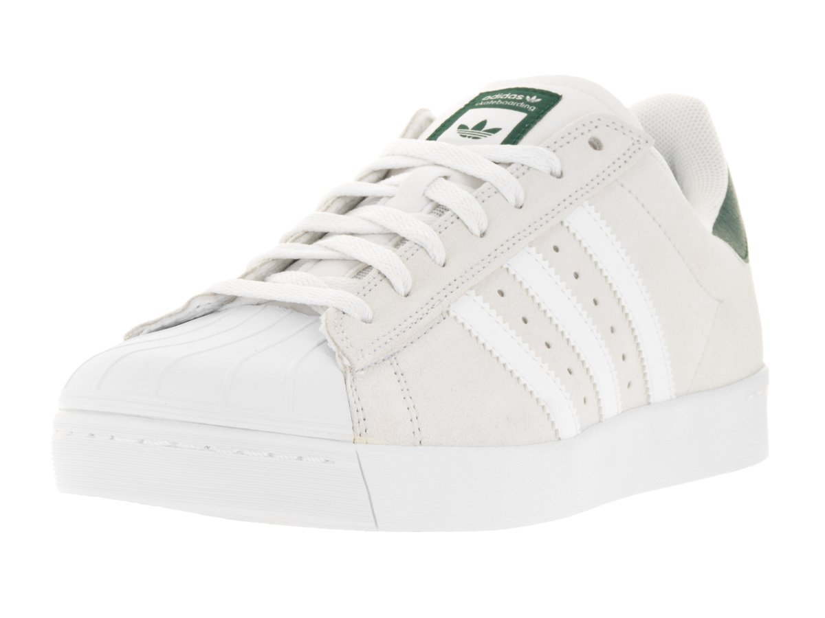 adidas Originals Men's Superstar Vulc Adv Shoes B01IPKUF7O 11.5 D(M) US|Crystal White/White/Collegiate Green