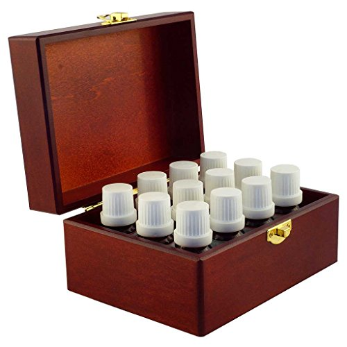 Master Aromatherapist Wooden Box of twelve 100% Pure Essential Oils for Aromatherapy - Therapeutic Grade - Use with Organic Aromas Diffusers ...