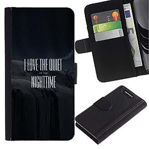 Stuss Case / Funda Carcasa PU de Cuero - Cita de la pelšªcula Negro texto blanco - Sony Xperia Z3 Compact