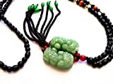 Jade Feng Shui Pi Yao /Pi Xiu Amulet for Protection and Wealth Luck