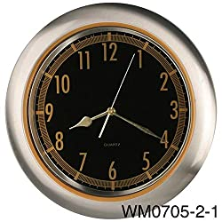 14-inches Stainless Steel Wall Clock Home Decor Specialty Quality, Quartz Modern Design Timepieces (WM0705)