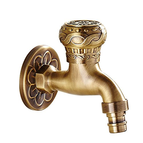 shuilongtou DDY antique washing machine mixer tap with single cold inwall solid brass washing machine faucets Square, B