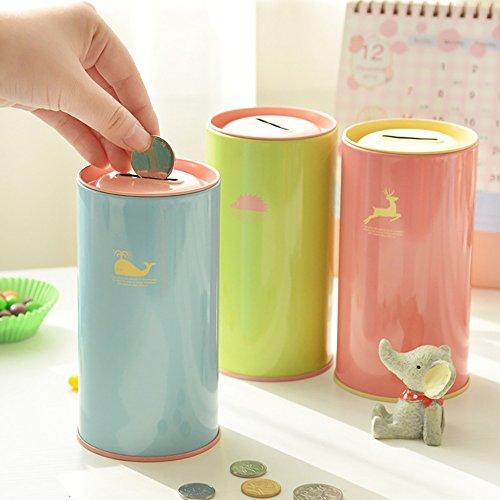 Zhi Jin Cute Cartoon Zoo Tin Saving Money Box Can Piggy Coin Bank Gift For Kids Adults (Tin Can Bank)