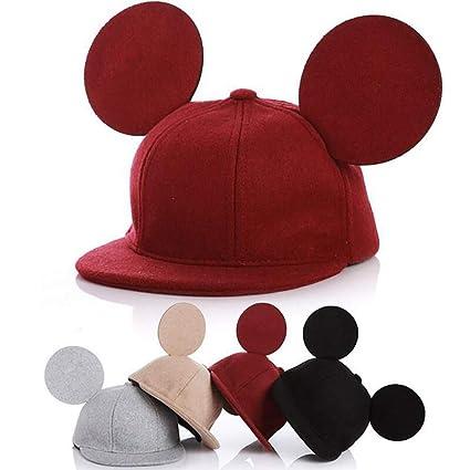 Beito Orecchio Adorabile Bambini Mouse Cappello 3D Cappello di Lana  Protezione dei Capretti per i Ragazzi Ragazze Primavera Autunno Inverno 1pc  - Nero  ... 70c2829b17c9