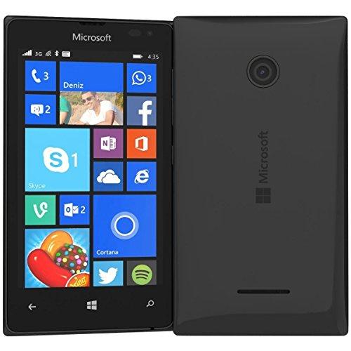 Microsoft Nokia Lumia 435 8GB Unlocked GSM Windows 8.1 Touchscreen Smartphone Black (International version, No Warranty) (Windows Phone 8 Unlocked)