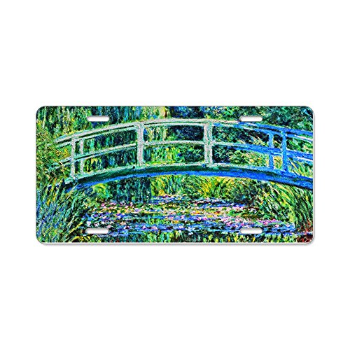 CafePress - Monet - Water Lily Pond - Aluminum License Plate, Front License Plate, Vanity Tag