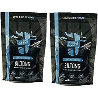 BEEFit Snacks 1kg Traditionelle Biltong, Hohes Protein, Gesund, Wenig Zucker, Nicht Beef Jerky (2x500g)