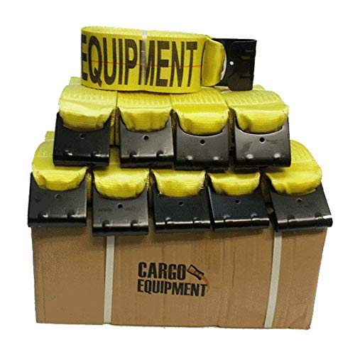 Cargo Equipment - Cargo Equipment Corp. 4 Inch Winch Strap with Flat Hooks - Box of 10 (30 Foot)