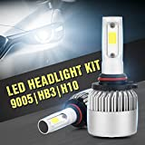 XCSOURCE 30000LM 200W S2 CREE LED Car Headlight 9005/H10/HB3 Halogen Lamp Bulb Built-in Cooling Fan 6500K White LD1054