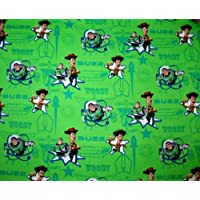 SheetWorld Fitted Cradle Sheet - Buzz Light Year Green - Made In USA