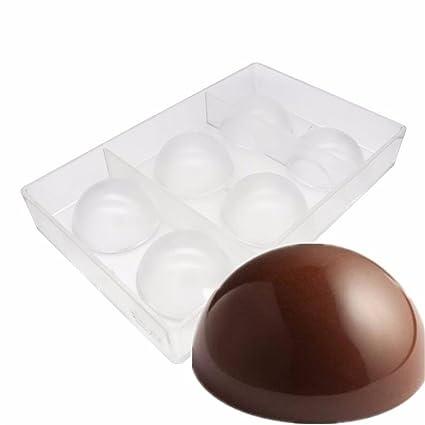 Vak 6 Cups Half Ball Chocolate Molds Polycarbonate