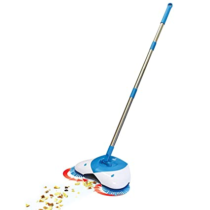 Swabs� Brooms Sweeper Steel Multifunction 360 Degree Rotating Sweeper Hand Push Vacuum Floor Cleaner Automatic Dustpan,Dustpan and Trash Bin 3 in 1 Floor Cleaning System