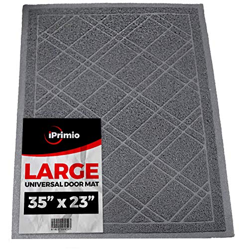 SlipToGrip Universal Door Mat - Plaid Design Size 35
