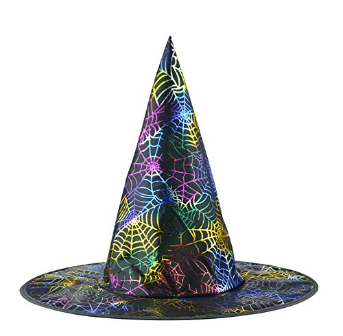Pretty Witch Makeup (Adult Witch Hat Halloween Costumes Makeup Party Accessory, Multi-Pattern)