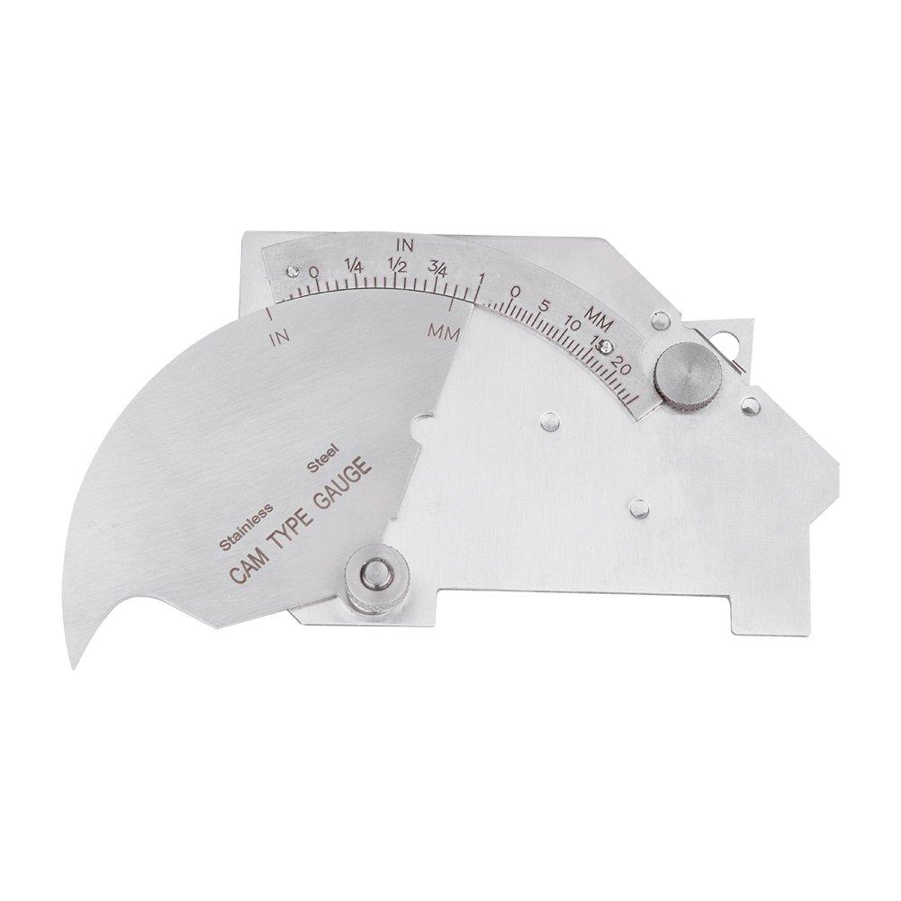 MG-8 Bridge Cam Welding Gauge Welded Surfaces Joint Undercut Fillet Leg Throat Gage measuring tool ruler Welding Undercut Gague Welding Measuring Tool