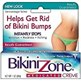 Bikini Zone Medicated Creme for Bikini Area 1 oz (Pack of 3)