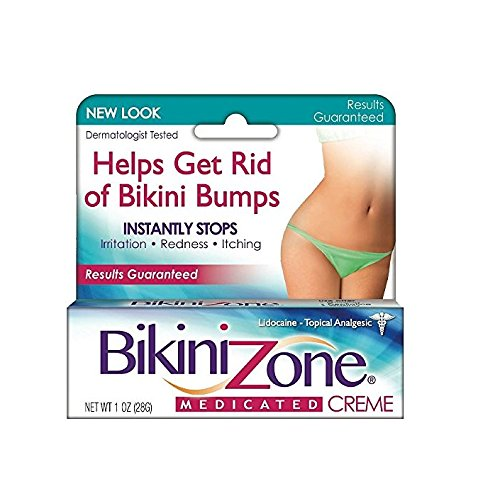 Price comparison product image Bikini Zone Medicated Creme for Bikini Area 1 oz (Pack of 3)
