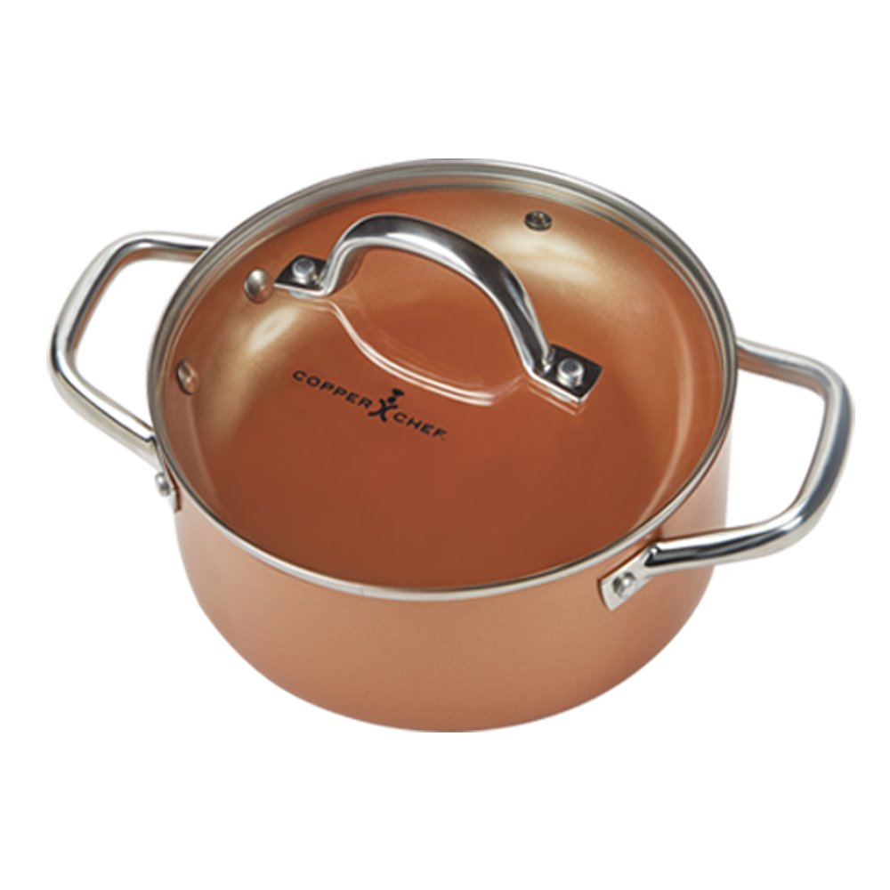 Copper Chef Cookware 9 Pc Round Pan Set Aluminum Amp Steel