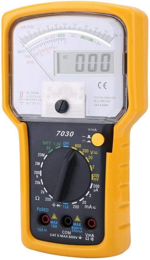 Mult/ímetro Anal/ógico de Doble Pantalla Multifunci/ón KT7030 de Alta Sensibilidad y Precisi/ón Mult/ímetro de Doble Pantalla Digital Anal/ógico Resistencia de Corriente de Voltaje de CA CC