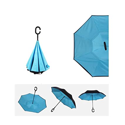 Paraguas Reversible del Paraguas del Doble C Que Hace Paraguas del Paraguas del Paraguas del Paraguas