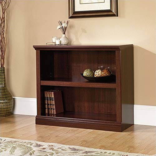 Sauder 2-Shelf Bookcase, Select Cherry finish (Two Shelves)