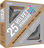 Closet Complete Baby Size, Premium Heavyweight, Velvet Hangers – Ultra-Thin, Space Saving, No-Slip, Perfectly Sized For Babies 0-48 months, Gray, Set of 25