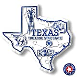 Texas State Map Magnet