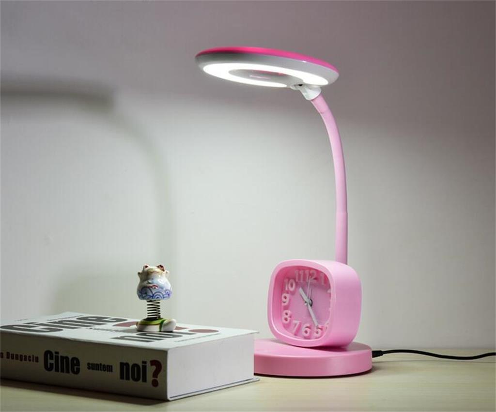 Lámpara de mesa de dormitorio Protección de de los ojos LED de de Aprendizaje lámpara de escritorio / ahorro de energía de escritorio para niños Lámparas / dormitorio dormitorio simple lámpara de cabecera / Reloj ffbcc4