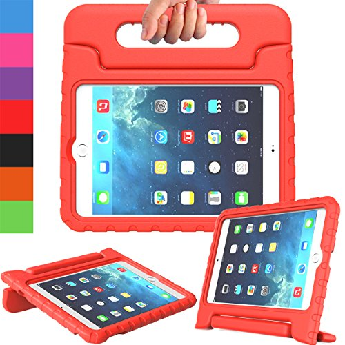 AVAWO Apple iPad Mini 1 2 3 Kids Case - Light Weight Shock Proof Handle Stand Kids for iPad Mini, iPad Mini 3rd Generation, iPad Mini 2 with Retina Display - Red