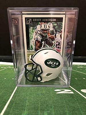 322f565420e Amazon.com  New York Jets NFL Helmet Shadowbox w Robby Anderson card ...