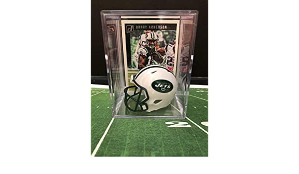 8ea9d817b53 Amazon.com  New York Jets NFL Helmet Shadowbox w Robby Anderson card   Sports Collectibles